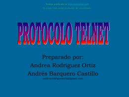 Monografias : Protocolo Telnet
