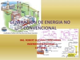GENERACION DE ENERGIA NO CONVENCIONAL
