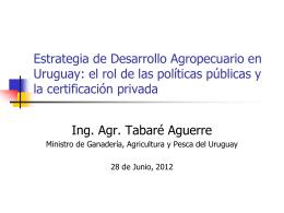 Estrategia de Desarrollo Agropecuario en Uruguay