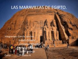 LAS MARAVILLAS DE EGIPTO.