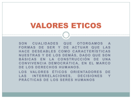 VALORES ETICOS - Mechisrm's Blog | Just another …