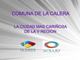 COMUNA DE LA CALERA