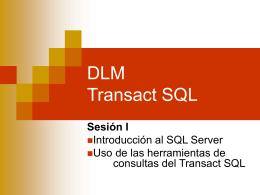 DLM Transact SQL