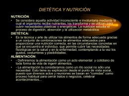 Valor nutritivo de los alimentos: - DEMO E