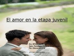 El amor en la etapa post-adolescente vs juvenil.