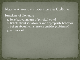 Native American Literature & Culture