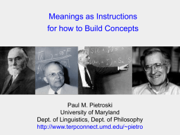 Concepts, Words, and Concepts:
