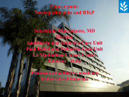 EVIDENCE BASED MEDICINE AND CANCER PAIN THERAPY …