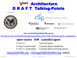 Recommended OS-iEHR Tobe Architecture