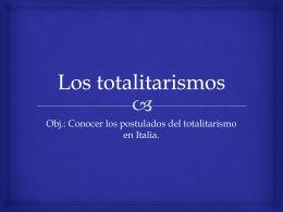 Los totalitarismos