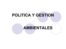POLITICA Y GESTION