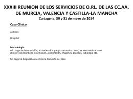XXXIII REUNION DE LOS SERCICIOS DE O.RL. DE LAS …