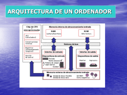 ARQUITECTURA DE UN ORDENADOR
