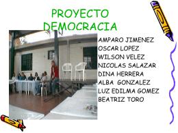 PROYE CTO DEMOCRACIA