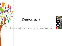 Democracia - Unitas - Bolivia. Bienvenido (a)