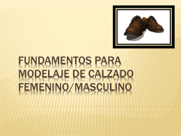 Fundamentos para Modelaje de Calzado …