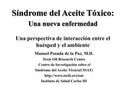 Sнndrome del Aceite Tуxico: Una nueva enfermedad Una