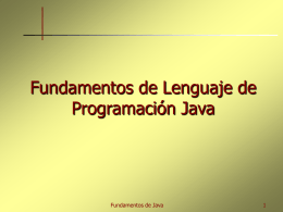 Fundamentos Java
