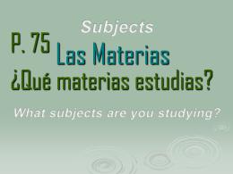 Las Materias
