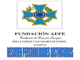 PERSONALIDADES DISTINGUIDAS AEFE