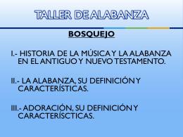 TALLER DE ALABANZA