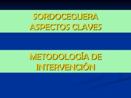 SORDOCEGUERA ASPECTOS CLAVES