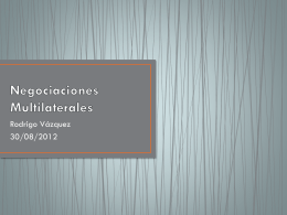Negociaciones Multilaterales