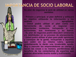 Importancia de Socio laboral