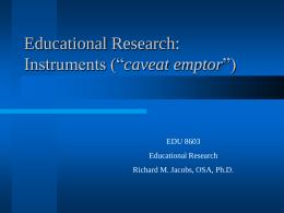 Instruments - Villanova University