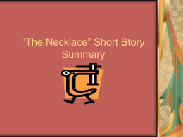 "The Necklace"" Short Story Summary"