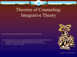 Integrative Theory - Higher Education | Pearson