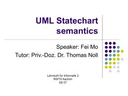 UML Statechart semantics