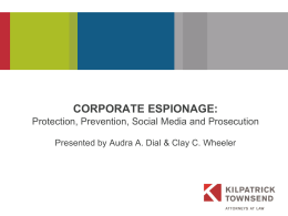 CORPORATE ESPIONAGE: How to Prevent It and How to …