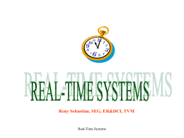A PRESENTATION ON REAL TIME SYSTEMS