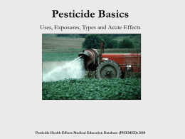 Types of Pesticides - Pesticide Health Effects Medical