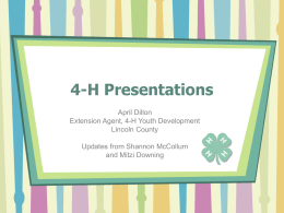 4-H Presentations - Buncombe County 4-H