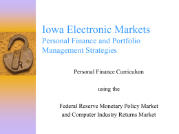 The Iowa Electronic Markets Personal Finance, Stock …