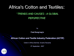 Kenya Textile Industry survival strategy
