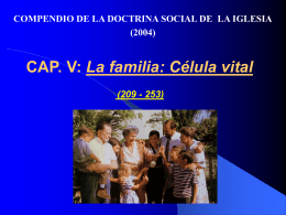 CAP. IV: PRINCIPIOS DE LA DSI (nn. 160-208)