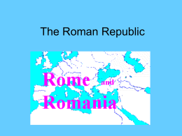 The Roman Republic - Faculty Server Contact
