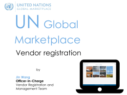 Vendor registration UNGM