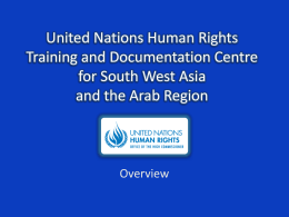 United Nations Human Rights Training and Documentation
