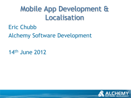 Mobile App Development & Localisation