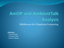 AmOP and AmbientTalk Analysis