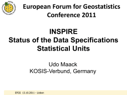 European Forum for Geostatistics Conference 2011