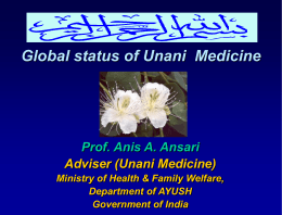 UNANI SYSTEM OF MEDICINE AND ITS APPROACH IN …