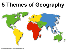 5 Themes of Geography - I Love World History