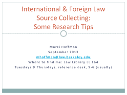 International & Foreign Law Source Collecting