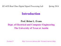 Introduction - University of Texas at Austin