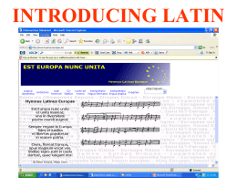 EUROPE CLUB LATIN COURSE
